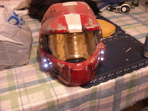 'Halo' Spartan Helmet, Red by NocturneOblivion