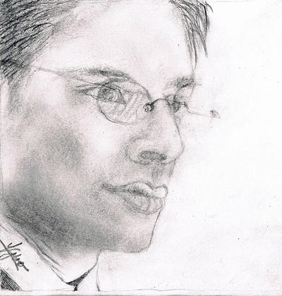 Dean Winchester with glasses by OneDayTheDeamWillEnd