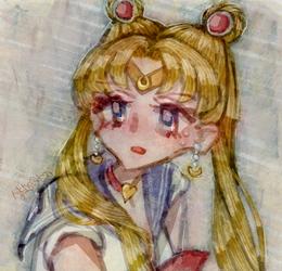 Sailor Moon redraw challenge by nkns0ksn