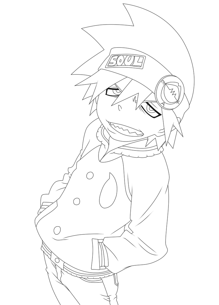 coloring pages of soul eater - photo#7