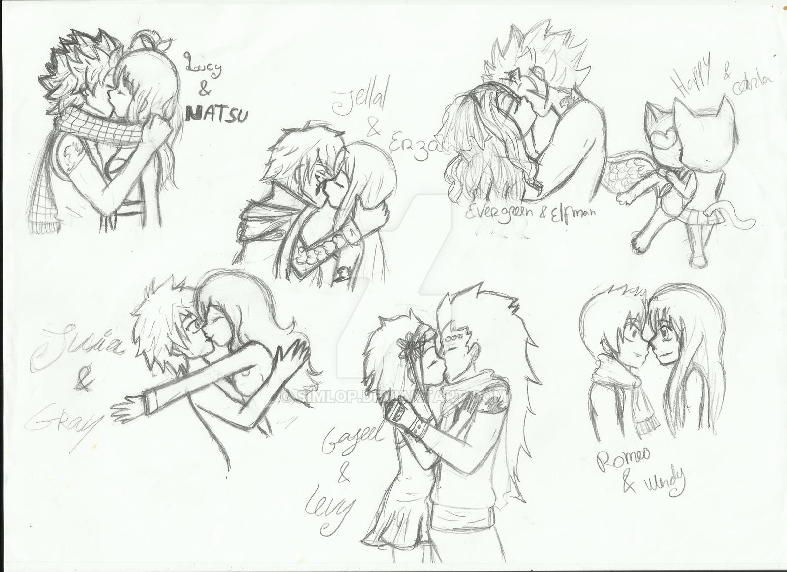 fairy tail couples by simlop fairy tail couples by simlop