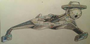 Klingon D7 Battlecruiser Transitional Refit 1979
