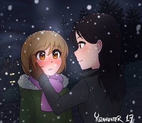 A December embrace? :3c by YuzaHunter