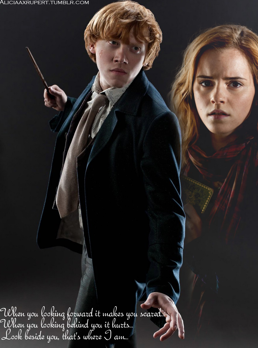 Hermione Granger desnuda tiene sexo Harry Potter con Ron