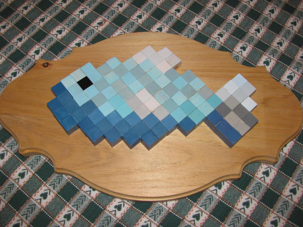 Minecraft fish on plaque by fan girl5 on deviantart for Minecraft fish skin
