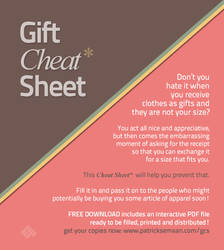 Gift Cheat Sheet
