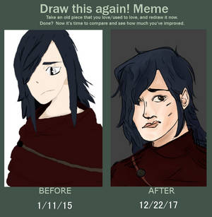 Draw this again! 3 year difference