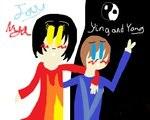 Nya and Jay (Ying and Yang) by CutiePieNinja72