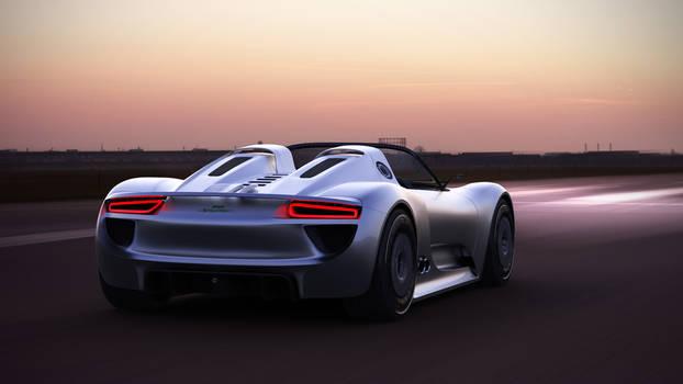 Porsche 918 Spyder drive by