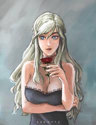 Blonde and Rose by Ganozzu