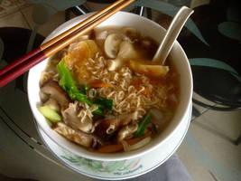 Mushroom Soup Noodle
