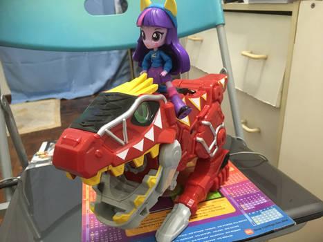 An Equestria Girl and a Sentai Mecha