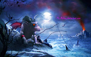Fishing With Monster by Mr-Ripley