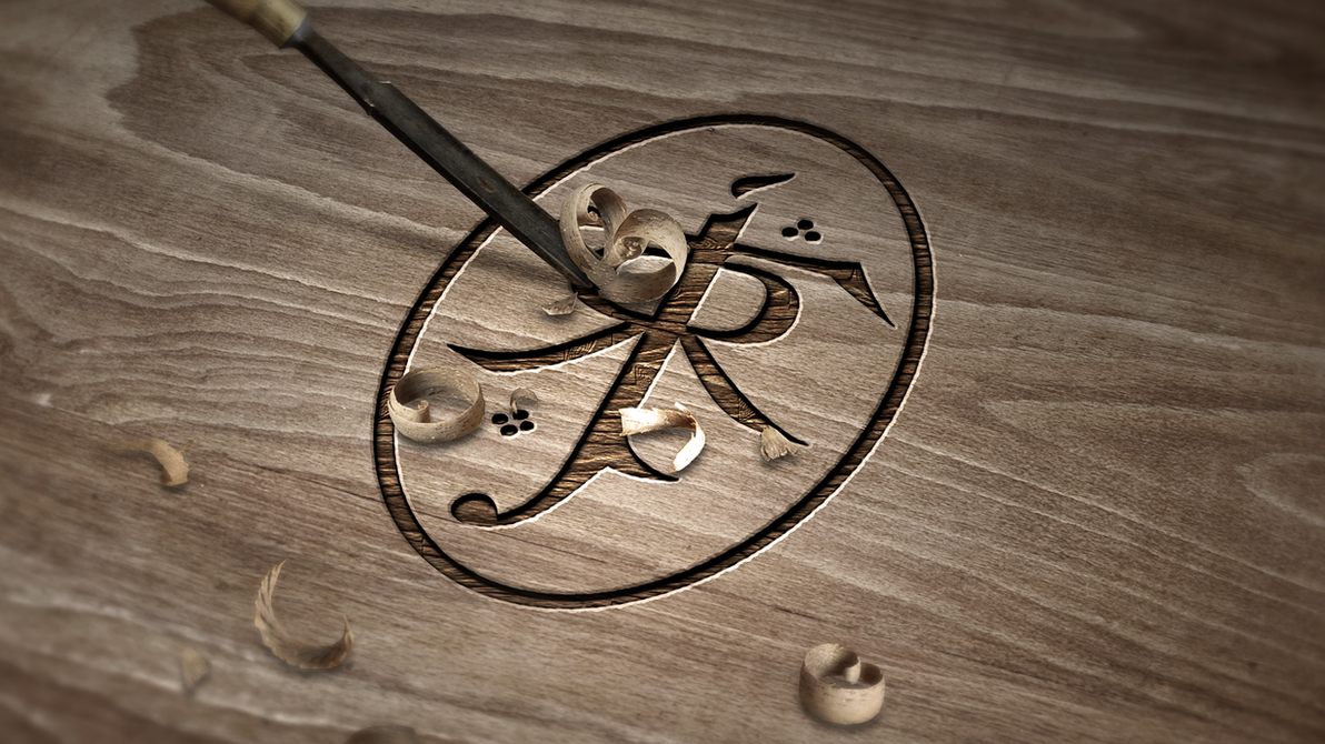 Jrr Tolkien Symbol Carved Wood By Dapence On Deviantart