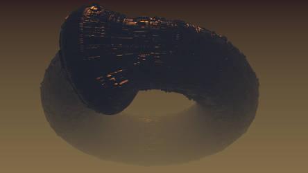 Alien Ship in Planet Atmosphere