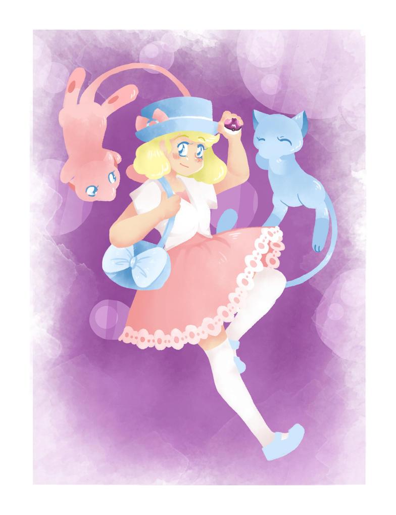 Mew Pokemon Trainer by xX-DragonFairy-Xx