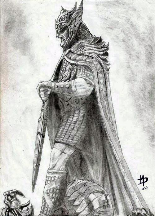 above is skyrim drawing - photo #2