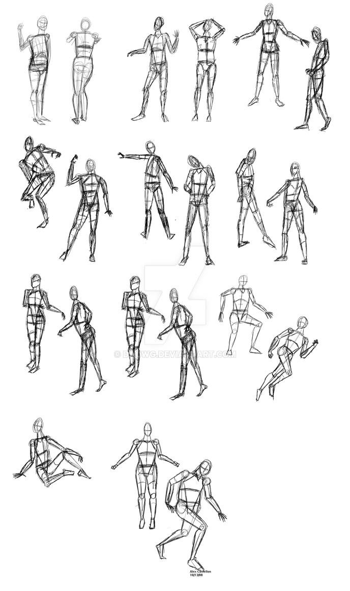 Human Mannequin Sketches By Daowg On DeviantArt