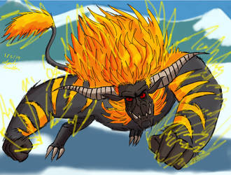 MH: Pchat Rajang Speedpaint by Daowg