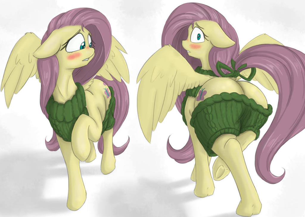 Fluttershy in virgin killer sweater by Alcor90 by Itarra