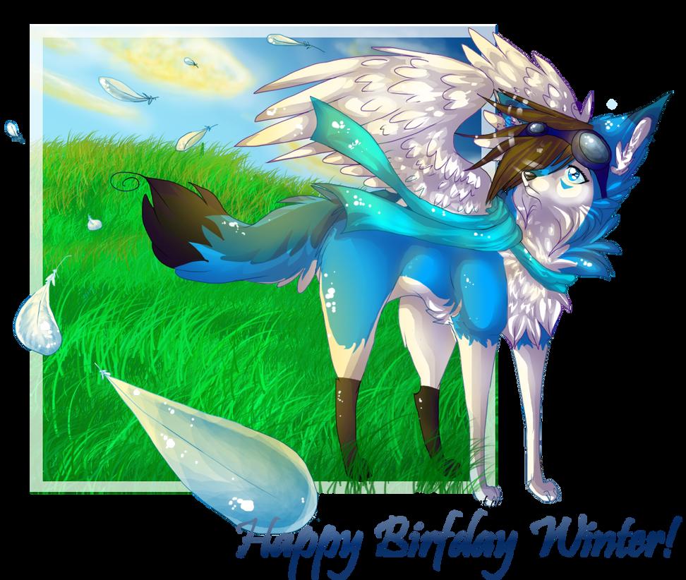 .: + Happy Birfday Winter + :. by Arsaniit-Wolf