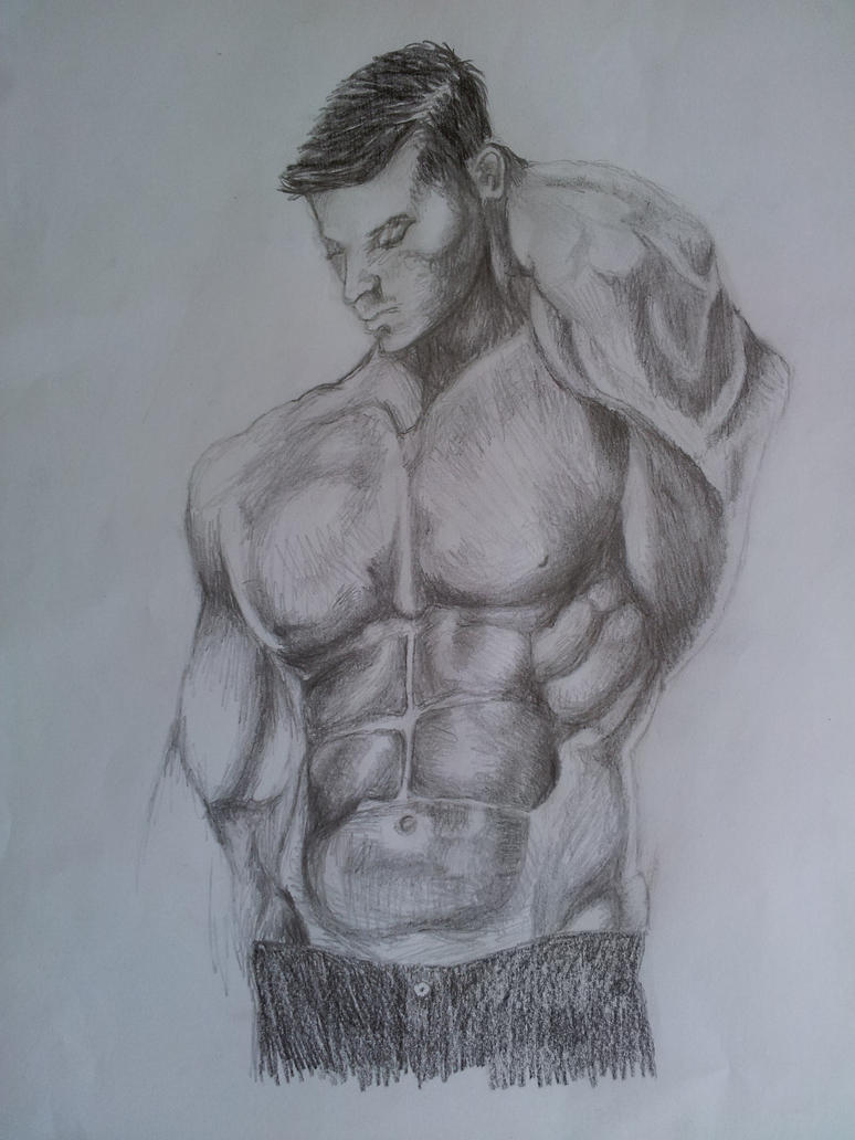 muscular man sketch