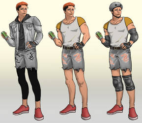 Biker Character Concept by aro-dynamic