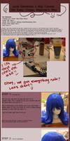 Juvia Loxar Elemental 4 Wig Tutorial by akahime-chan