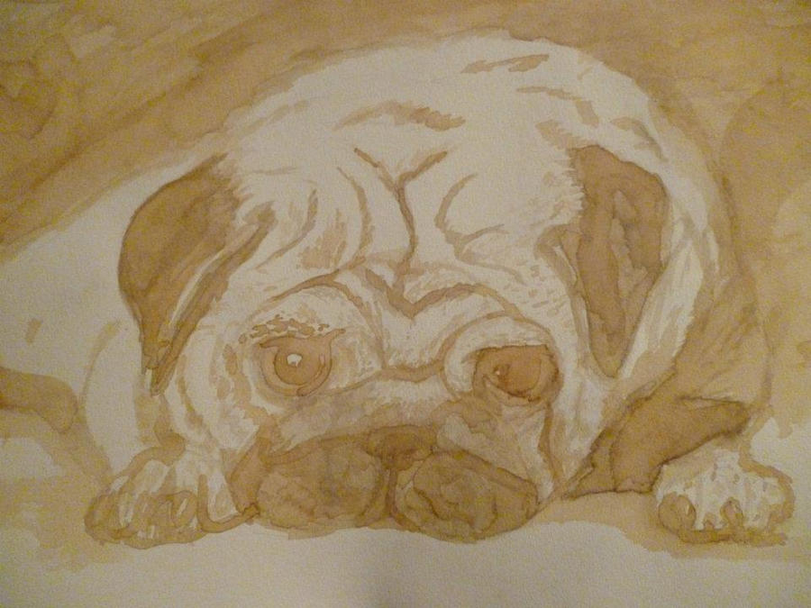 Crying Pug :c by manosdemonkey
