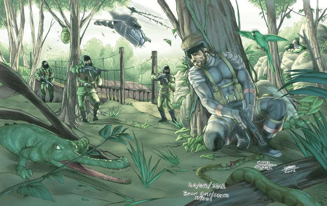 Metal Gear Solid 3 Fanart By Bonisol