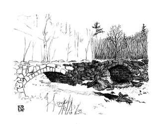 Double Arch Stone Bridge WIP 1  by UmaNHamU