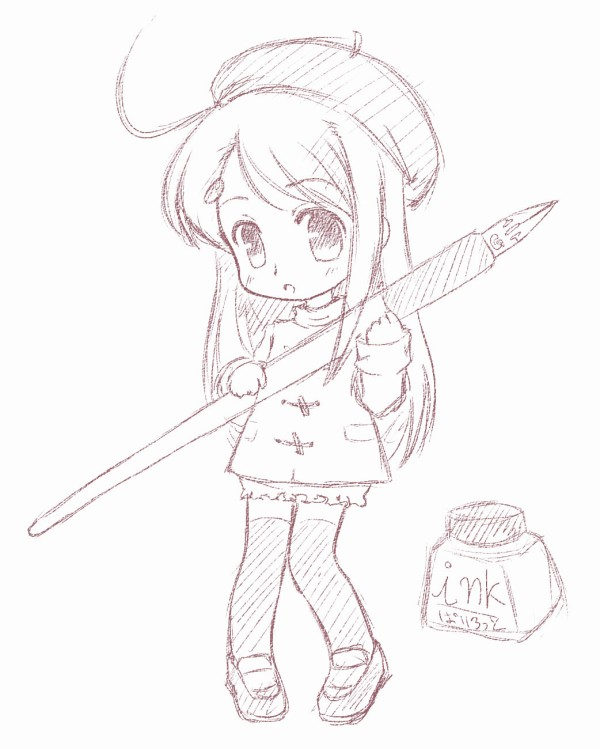 Chibi pencil cleared bycatplus by chindefu