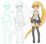 Akita Neru Drawn process