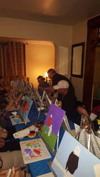 Paint party in home