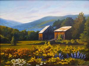 Farm in Maine     18 x 24       $375.00