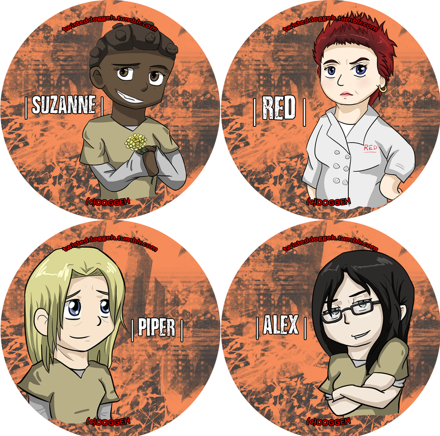 Orange is the New Black Button Set by MasterDoggeh