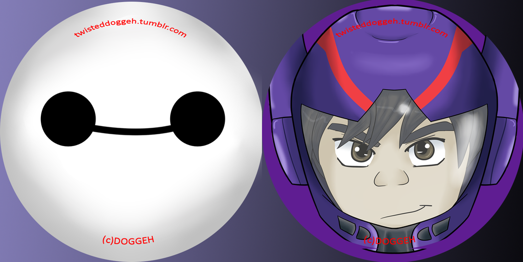 Big Hero 6 Buttons by MasterDoggeh