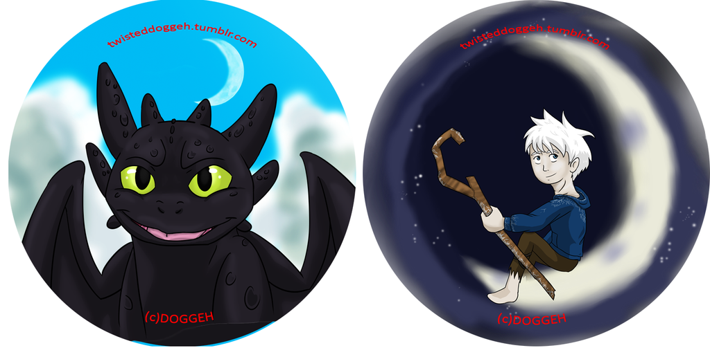 Dreamworks Button Set by MasterDoggeh