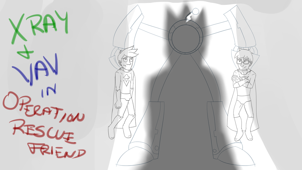 Xray and Vav Title Card by MasterDoggeh