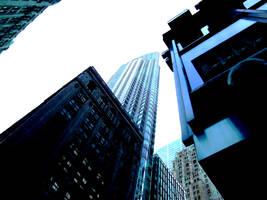 Toronto Cityscape in Blue