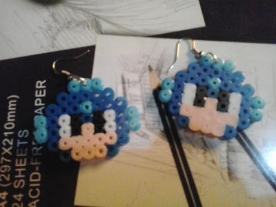 Megaman Hama Earrings by gallymedes28