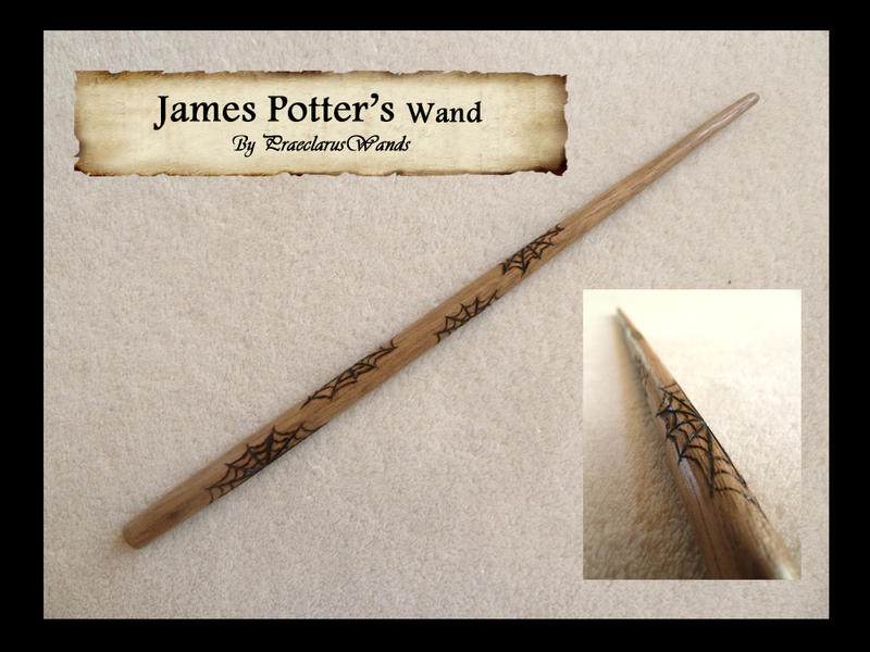 James Potter's Wand by PraeclarusWands on DeviantArt