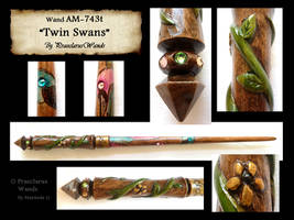 ''Twin Swans'' AM-743t by PraeclarusWands
