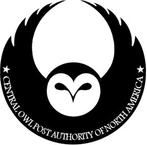 Owl post COPANA logo by PraeclarusWands