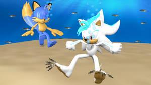 Azure and Lucas underwater by Korey-SonicFan22