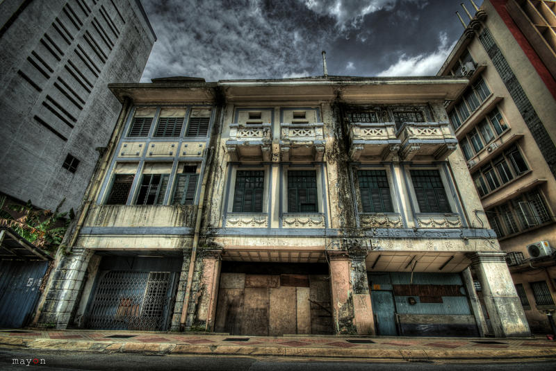 HDR - KL Archaic Shophouses 03 by mayonzz