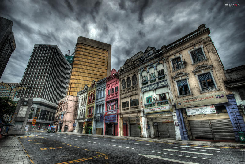 HDR - KL Archaic Shophouses 02 by mayonzz