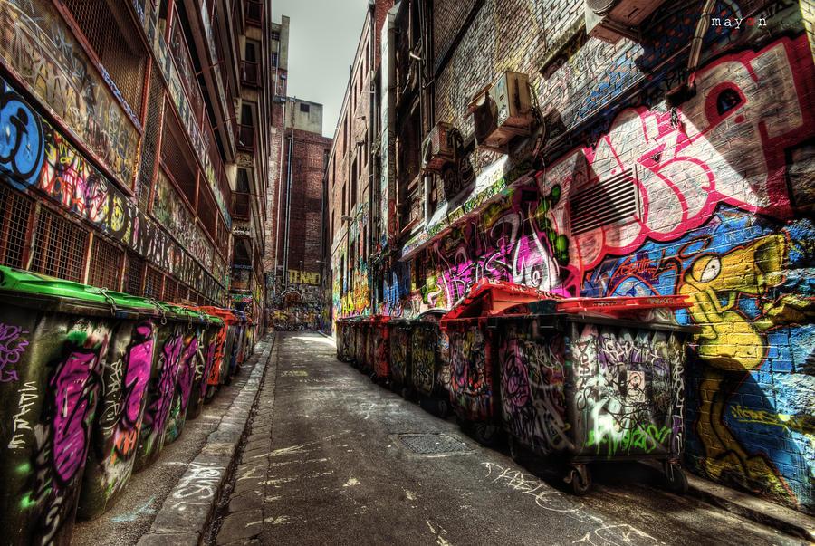 HDR - Graffiti Attack 03 by mayonzz