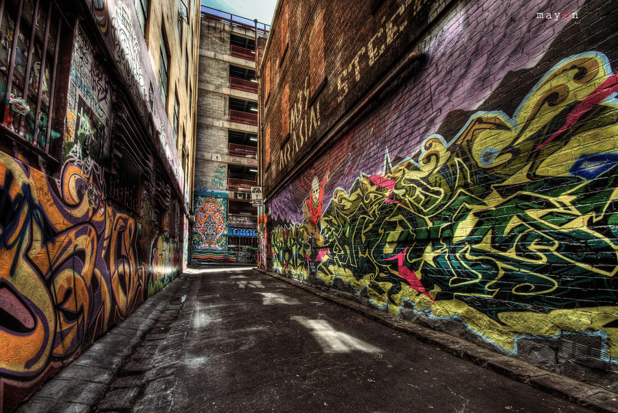 HDR - Graffiti Attack 02 by mayonzz