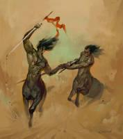 centaurs race by vertebra